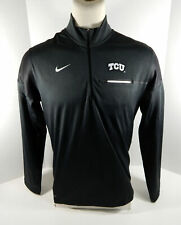 Texas Christian Univeristy Tcu Men's Liberty Zip-Up Pullover Shirt Nike New L