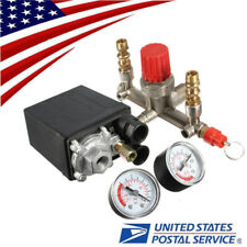 USA 125PSI Air Compressor Pressure Switch Control Valve Regulator & Gauges Set