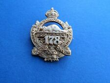 WW1 CEF 178th Infantry Battalion Canadien Francais Sweetheart Brooch Badge Pin