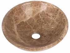 Marble Hand Face Wash Basin Bowl Bathroom 400mm diameter Light Emperador (0044)