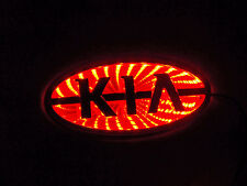 Chrome and Red LED Badge Emblem Lamp For KIA™ - Free US Shipping