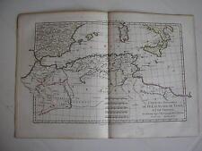 CARTE des Royaumes de FEZ ALGER TUNIS TRIPOLI par BONNE carte ancienne 1781   76