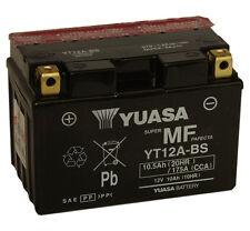 Genuine Yuasa YT12A-BS Motorbike Motorcycle Battery Inc Filling Kit