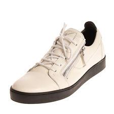 RRP€570 GIUSEPPE ZANOTTI Leather Sneakers EU 45 UK 11 US 12 Grainy Made in Italy