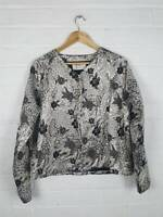 New Atterley Gold Shimmer Black Floral Brocade Jacket Smart Occasion UK 14