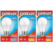 2 X Eveready Led GLS Lampe B22//E27 Tageslicht 6000k Warmes Weiß 3000k Opal