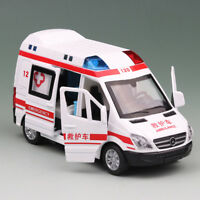 1:36 Ambulance Car Model Toy Vehicle Diecast Sound Light Kids Gift White