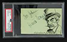 "1966 David Wayne ""The Mad Hatter"" Batman Signed 3x5 Sketch Card (PSA/DNA)"