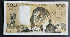 FRANCE - FRANCIA - FRENCH NOTE - BILLET DE 500 FRANCS PASCAL 3/11/1977 TTB.