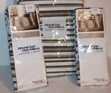NWT Mitchell Gold Bob Williams Dream Stripe Shams and Queen Duvet Brown Bedding
