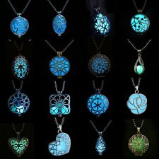 Charm Handmade Steampunk Magic Fairy Locket Glow In The Dark Pendant Necklace