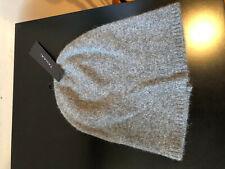 NEW TAHARI  Gray 100% Cashmere Beanie Hat
