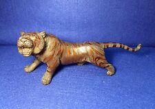 Signed Japanese Meiji Period Crouching Tiger Bronze Sculpture Circa 1868 -1912 !