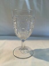 EAPG Water Goblet c1880s Bellaire Goblet Company #259 PANELED JEWELS