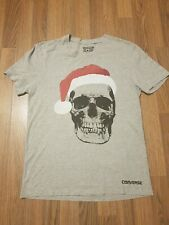 Mens Converse Santa Hat Skull Tshirt Top Size XS
