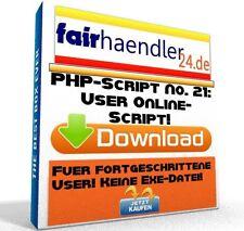PHP-SCRIPT No. 21 USER ONLINE SCRIPT Tool Webmaster HP PHP PC Software E-Lizenz