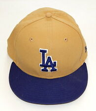 New Era Los Angeles LA Dodgers Tan and Blue Snapback Cap 9FIFTY Adjustable Hat