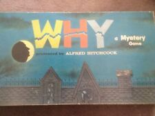 """Vintage Milton Bradley Alfred Hitchcock """"Why"""" A Mystery Game 1961 Complete"""