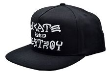 Thrasher Magazine SKATE AND DESTROY Snapback Skateboard Hat BLACK