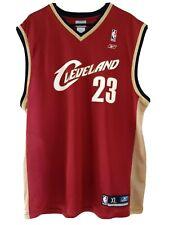 Cleveland Cavaliers Men's XL Jersey #23 LeBron James Screen Print Reebok