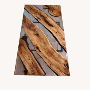Wooden Transparent Olive Conference Epoxy Dining Table Furniture Decorativ