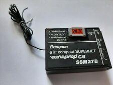 Graupner C6 27Mhz Empfänger SSM mit Quarz Kanal 24