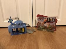 Disney Cars Mini Adventures Car Wash Playset W/ Sarge's Boot Camp Sally & Mater