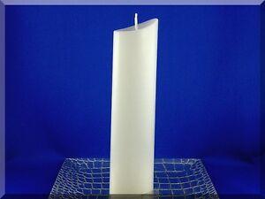 Edle Kerze Rohling Oval weiß - Sonderform - Kerzenkunst