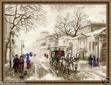 "Cross stitch kit RIOLIS ""Old Street"" art. 1400, winter, free shiping"