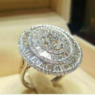 925 Silver Gorgeous Women Jewelry Cubic Zirconia Wedding Party Rings Size 6-10