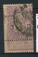 Belgio 1893 Mi. 59 Usato 100% Re Leopoldo II.