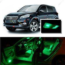 For Toyota Rav4 2006-2016 Green LED Interior Kit + Green License Light LED