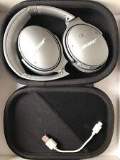 Bose QuietComfort 35 Series QC35 II Wireless Headphones | Silver | Noise Cancel