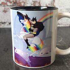 Batman Riding A Unicorn Funny Meme Superhero Birthday Gift Geek Mug