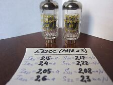 2x TESLA E83CC GOLD /12AX7/ECC803S (NEW, YELLOW LABEL, SWORDS) MATCHED from 70-s