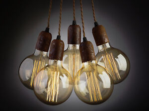 Vintage Rust Effect ceiling Pendant light cluster chandelier + free shipping