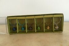 Pier 1 Imports Stemware Wine Glass Charms - 6 Different Multi-Color Bead Charms