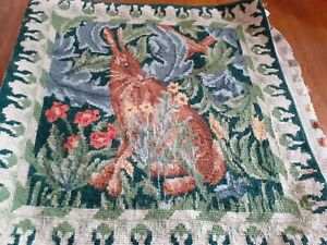 Beth Russell William Morris design completed tapestry Hare