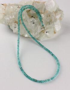 Apatite Necklace Precious Stone 925 Silver Jewelry Paraibafarbe Ladies 45 CM