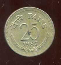 INDE 25  paise 1987  ( bis )