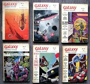GALAXY Science Fiction MAGAZINES ORIGINAL VINTAGE UK EDITIONS early 1950s 1960s?