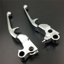 Chrome Handle Brake Clutch Levers fit For Harley Davidson FXDL Dyna Low Rider