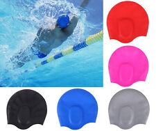 Adult Swim Cap Silicone Swimming Pool Water Sports Beach Long Hair Bathing Hat