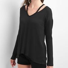 New! Gap women's softspun split shoulder t-shirt - XS - jumper top long sleeve