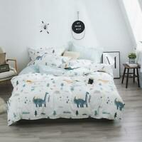 3D Cute Blue Dinosaur Trees KEP2104 Bed Pillowcases Quilt Duvet Cover Kay