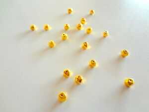 Solid 22 Carat (22K) Yellow Fine Gold 3MM Square Round 10 pieces Handmade Beads
