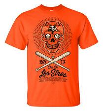 "Houston Astros ""Dia De Los Stros"" World Series 2017 Tshirt Orange unisex LARGE"