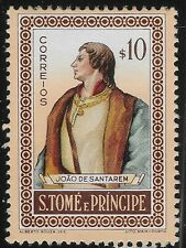 1952 ST. THOMAS & PRINCE ISLAND SAO TOME AND PRINCIPE 10c Joao de Santaren (DX6)