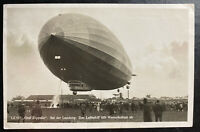 1931 Germany Graf Zeppelin RPPC postcard Cover Polar Flight LZ127 #C40 To Munste