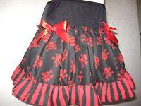 New Red White Blue Stripes Anchor Jersey Mini Skater Skirt Party Retro Gift